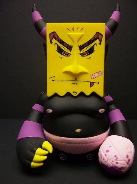 Dynomight Bumrush Vinyl Toy NYCC Purple Edition