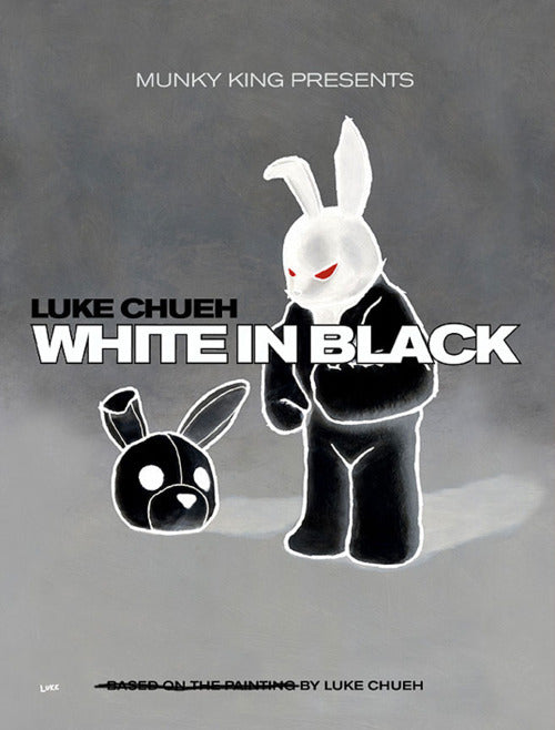 WHITE IN BLACK bunny rabbit by LUKE CHUEH