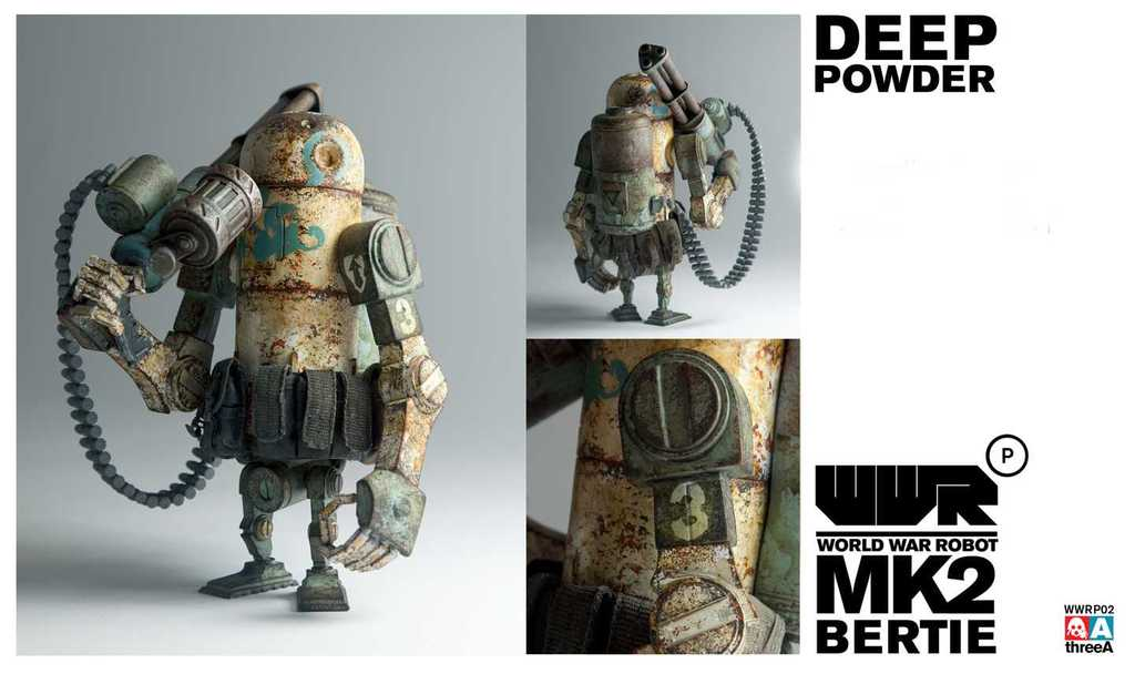 World War Robot WWRP MK2 Deep Powder Bertie by Ashley Wood and ThreeA Vinyl Toys