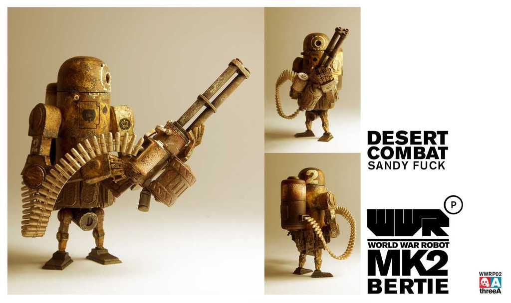 World War Robot WWRP MK2 Desert Combat Bertie by Ashley Wood and ThreeA Vinyl Toys