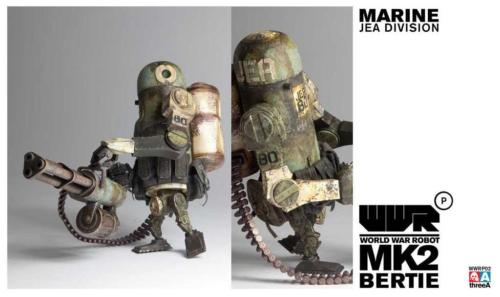 World War Robot WWRP MK2 Marine Bertie by Ashley Wood and ThreeA Vinyl Toys