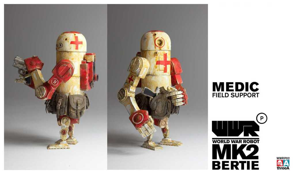 World War Robot WWRP MK2 Medic Bertie by Ashley Wood and ThreeA Vinyl Toys