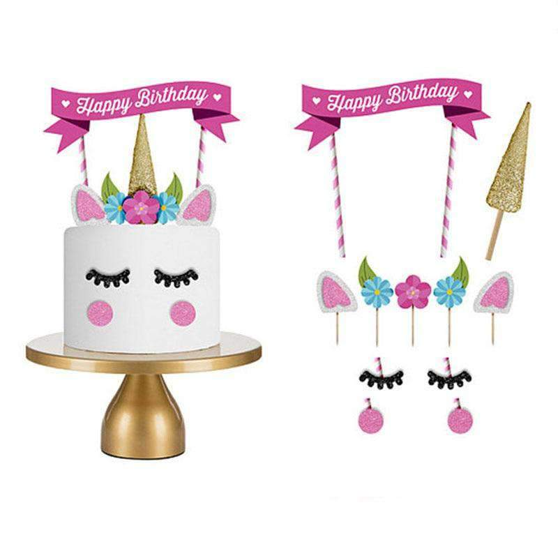 1 Set Pink Unicorn Cake Topper Decoration for Party SHAPE meets COLOR