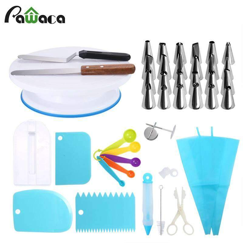 41 pcs Cake Turntable and Decorating Tools Set SHAPE meets COLOR