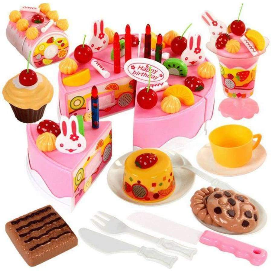 75 Pcs. DIY Fruit Cutting Birthday Cake SHAPE meets COLOR