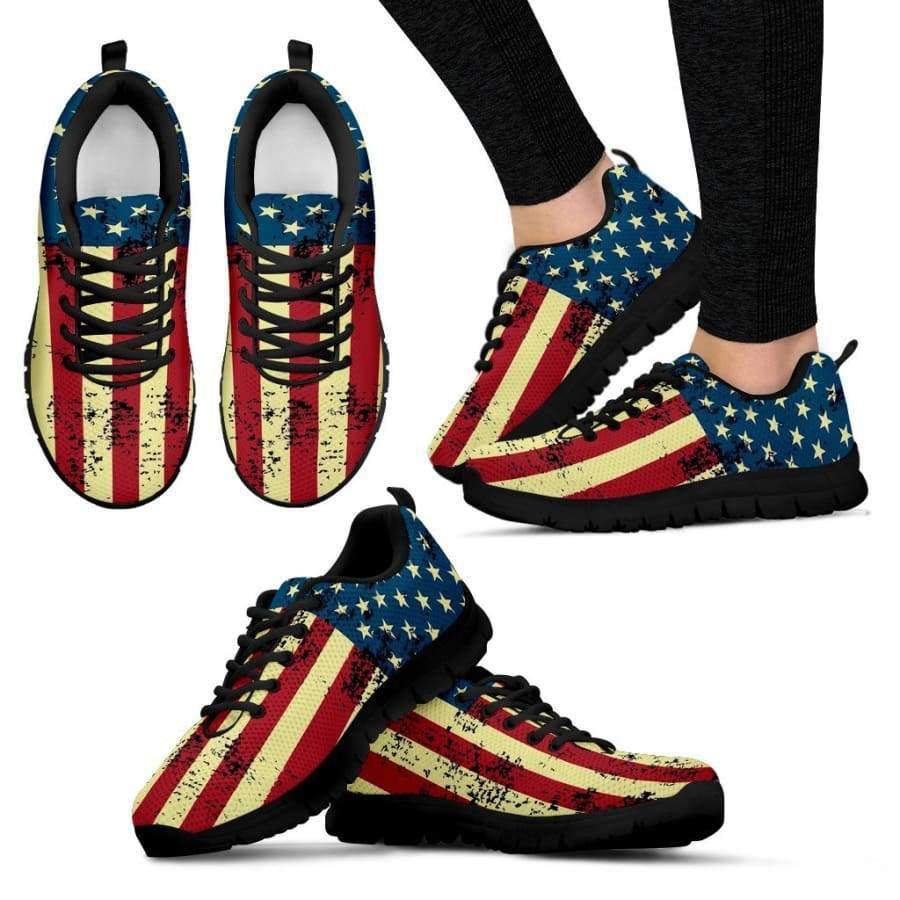American Flag Women's Black Sneakers Sneakers SHAPE meets COLOR