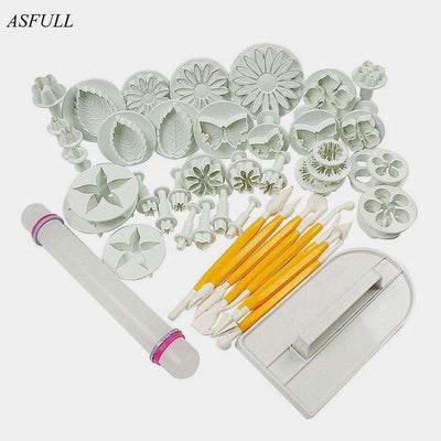 ASFULL 46 Pcs Fondant Cake Decorating Set SHAPE meets COLOR