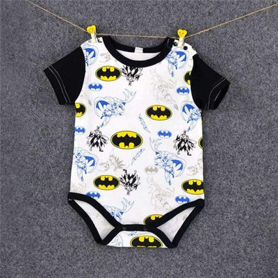 Awesome Cartoon Baby Rompers - Several Designs SHAPE meets COLOR Batman 3M