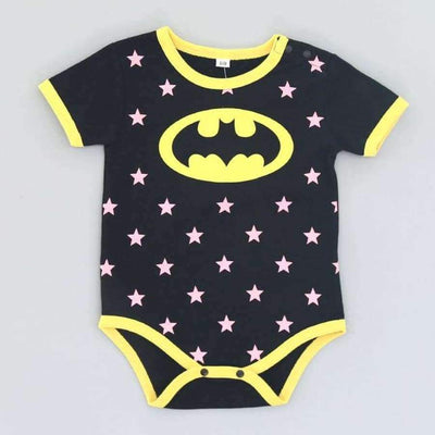 Awesome Cartoon Baby Rompers - Several Designs SHAPE meets COLOR Short batman 3M
