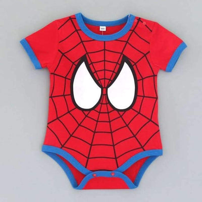 Awesome Cartoon Baby Rompers - Several Designs SHAPE meets COLOR Short spiderman 3M