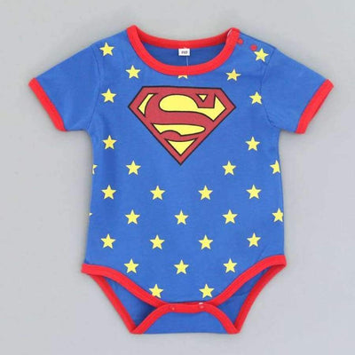 Awesome Cartoon Baby Rompers - Several Designs SHAPE meets COLOR Short superman 3M