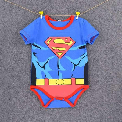 Awesome Cartoon Baby Rompers - Several Designs SHAPE meets COLOR Shot superman 2 3M