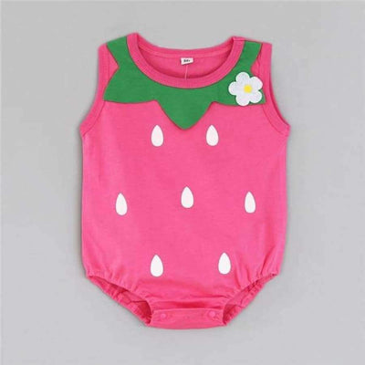 Awesome Cartoon Baby Rompers - Several Designs SHAPE meets COLOR Straberry 3M
