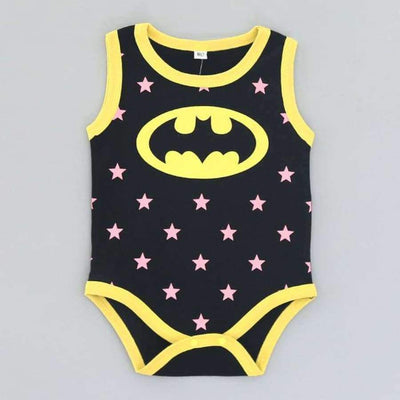 Awesome Cartoon Baby Rompers - Several Designs SHAPE meets COLOR superman batman 3M