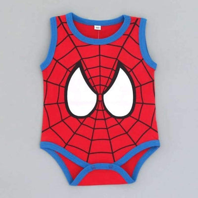 Awesome Cartoon Baby Rompers - Several Designs SHAPE meets COLOR superman spiderman 3M