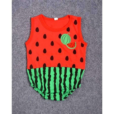 Awesome Cartoon Baby Rompers - Several Designs SHAPE meets COLOR Water melon 3M