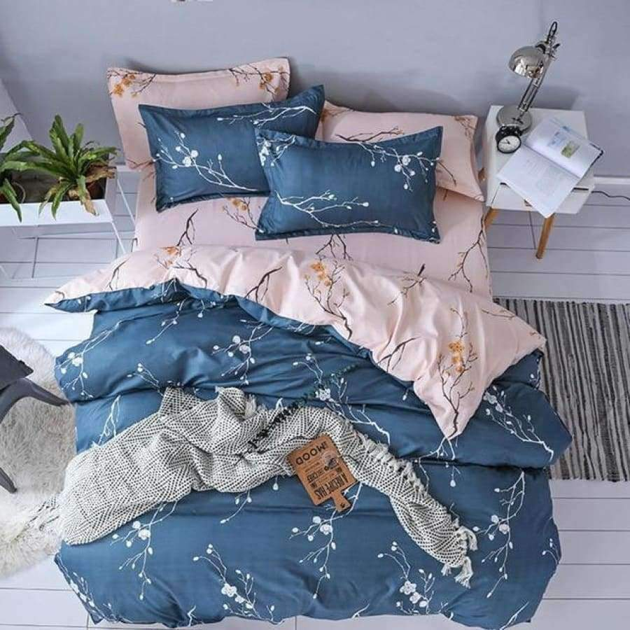 Blue Thunderstorm Bedding set SHAPE meets COLOR Twin 3PCS