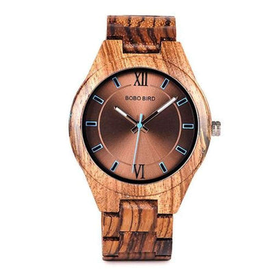 BOBO BIRD Wood Men's Watch - Wooden and Agate Inlay SHAPE meets COLOR V-Q05-1