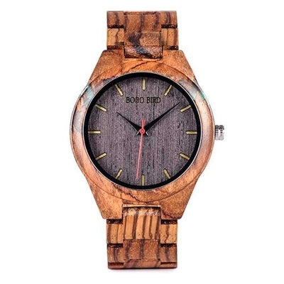 BOBO BIRD Wood Men's Watch - Wooden and Agate Inlay SHAPE meets COLOR VQ05-2