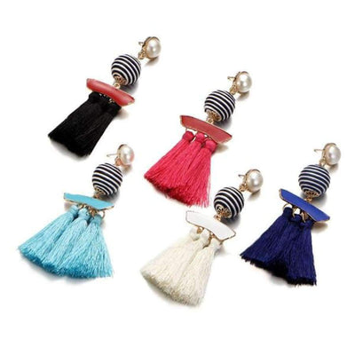 Boho Dangle Fringe Earrings jewlery SHAPE meets COLOR