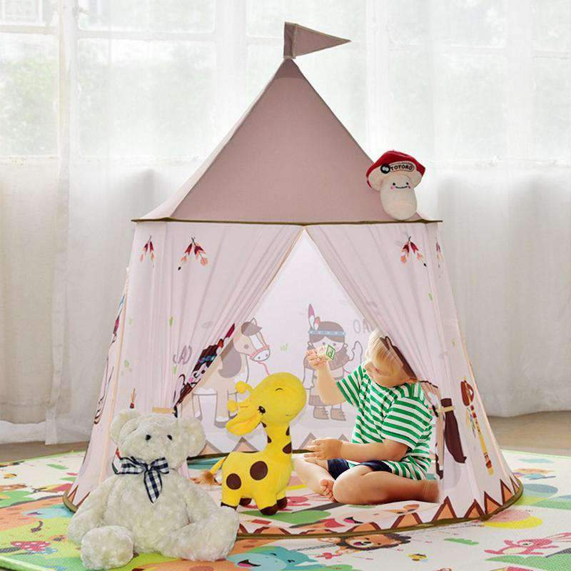 Children Easy Building Bottomless Tent - Indian Yurt Tent SHAPE meets COLOR