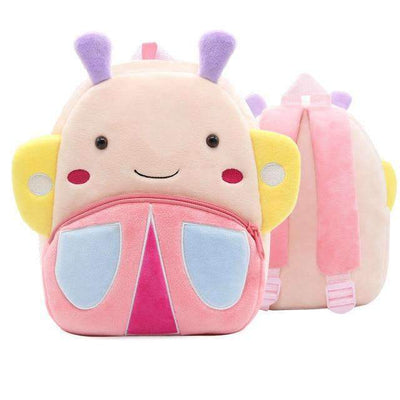 Children School Backpack Cartoon Rainbow Unicorn Design and More SHAPE meets COLOR Butterfly