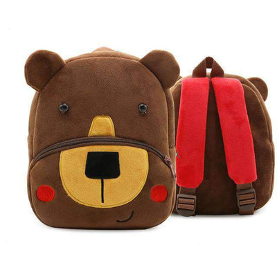 Children School Backpack Cartoon Rainbow Unicorn Design and More SHAPE meets COLOR Coffee Bear