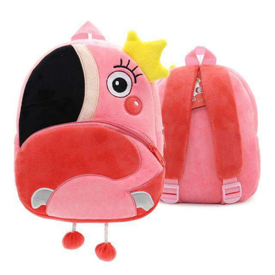 Children School Backpack Cartoon Rainbow Unicorn Design and More SHAPE meets COLOR Flamingo