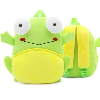 Children School Backpack Cartoon Rainbow Unicorn Design and More SHAPE meets COLOR Frog