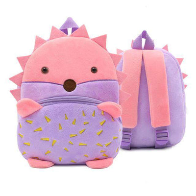 Children School Backpack Cartoon Rainbow Unicorn Design and More SHAPE meets COLOR Hedgehog