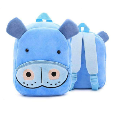 Children School Backpack Cartoon Rainbow Unicorn Design and More SHAPE meets COLOR Hippo