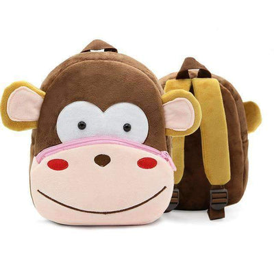 Children School Backpack Cartoon Rainbow Unicorn Design and More SHAPE meets COLOR Monkey