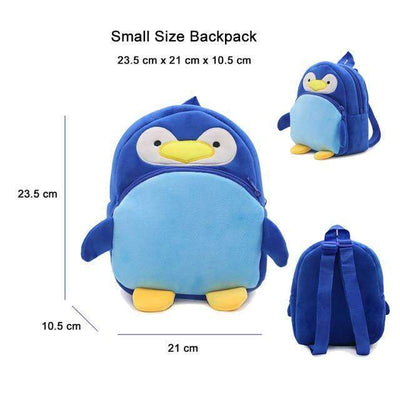 Children School Backpack Cartoon Rainbow Unicorn Design and More SHAPE meets COLOR Penguin
