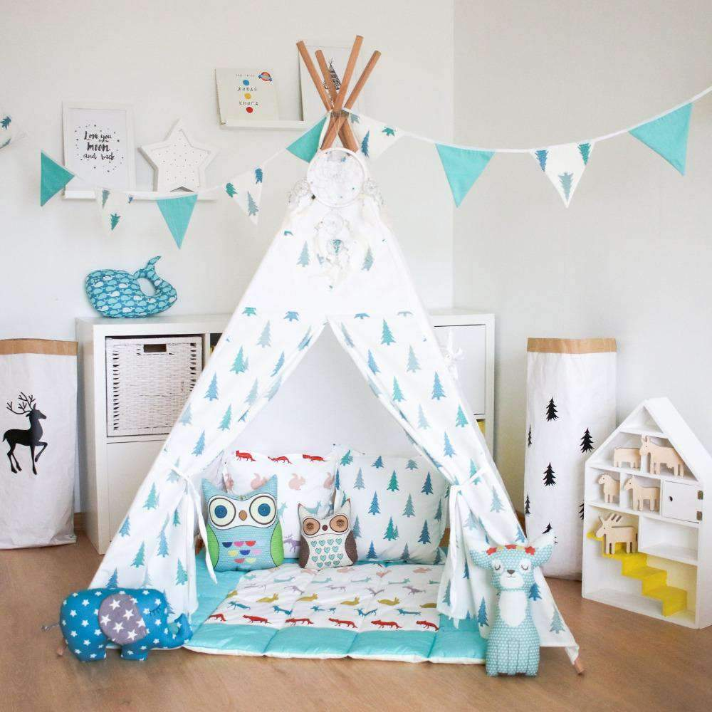 Children Toy Tents for Indoors - Portable and Foldable Indian Tipi Teepent SHAPE meets COLOR