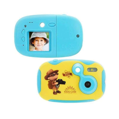 Children's Photo Camera With Neck Strap SHAPE meets COLOR blue camera