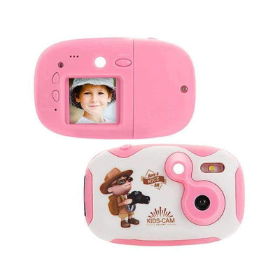 Children's Photo Camera With Neck Strap SHAPE meets COLOR pink camera