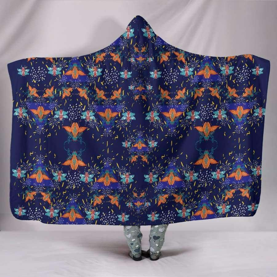 Colorful Beetles Paradise Hooded Blanket Hooded Blanket SHAPE meets COLOR