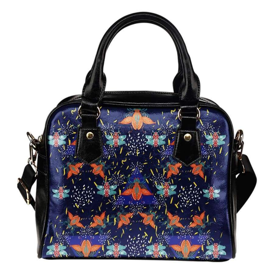 Colorful Beetles Paradise Shoulder Bag Shoulder Handbag SHAPE meets COLOR