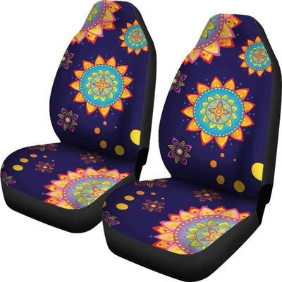 Colorful Mandala Car Seat Covers Car Seat Covers SHAPE meets COLOR