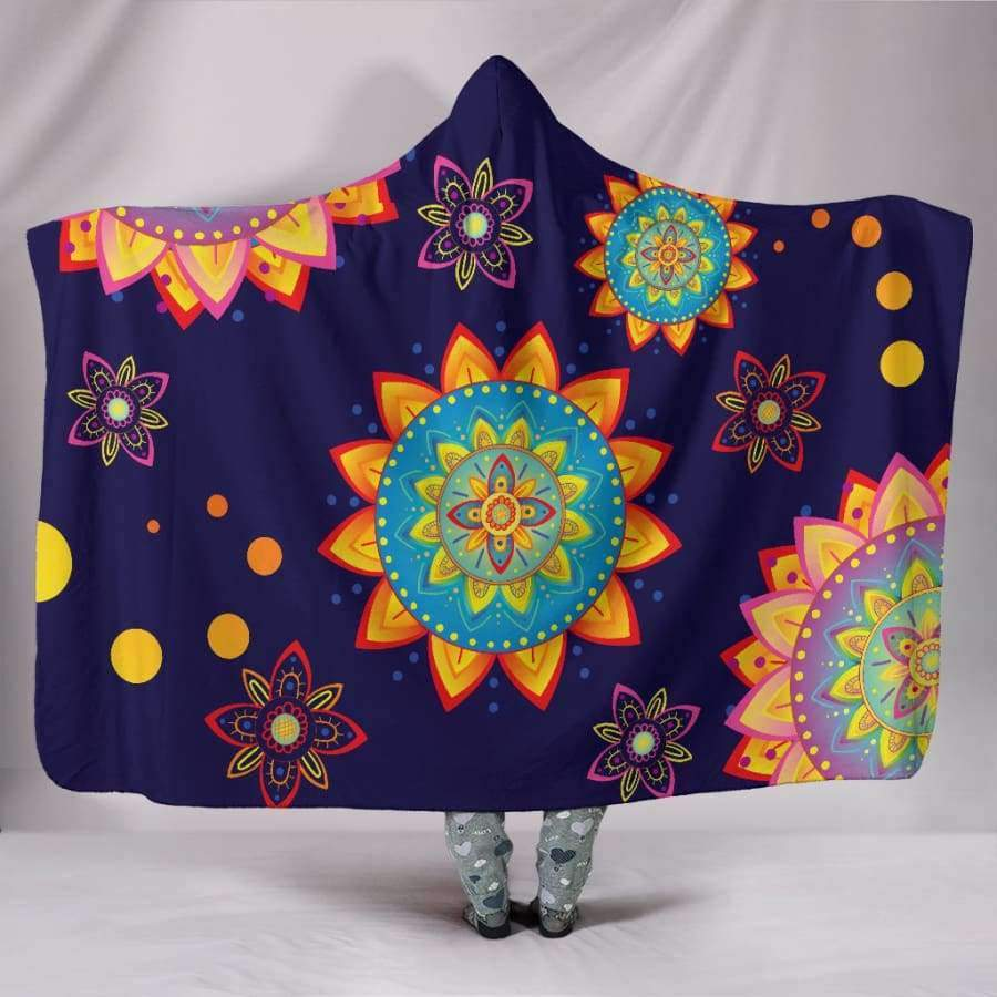 Colorful Mandala Hooded Blanket Hooded Blanket SHAPE meets COLOR