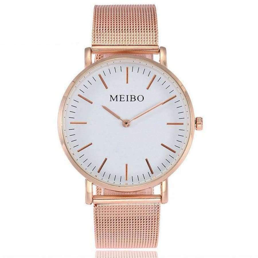 Elegance Ultra Thin Women's Watch watch SHAPE meets COLOR Rose Gold White