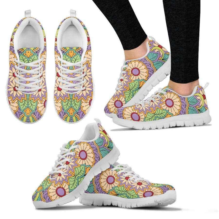 Flowers Women's White Sneakers Sneakers SHAPE meets COLOR