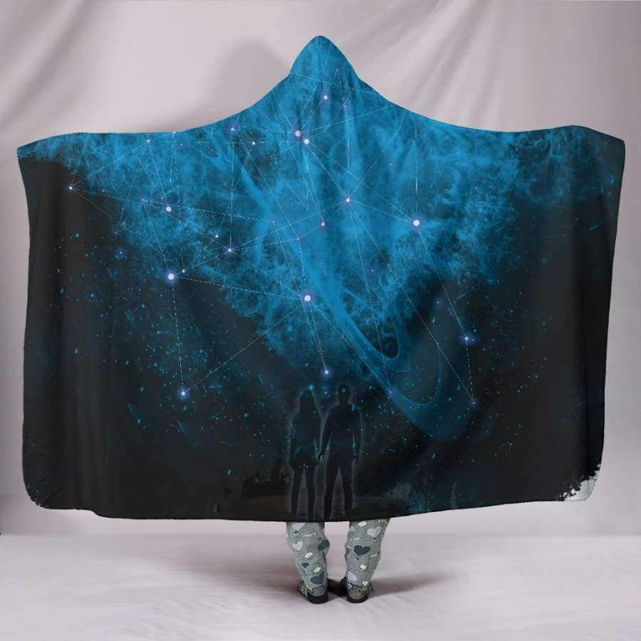 Galactic Nebula Hooded Blanket Hooded Blanket SHAPE meets COLOR
