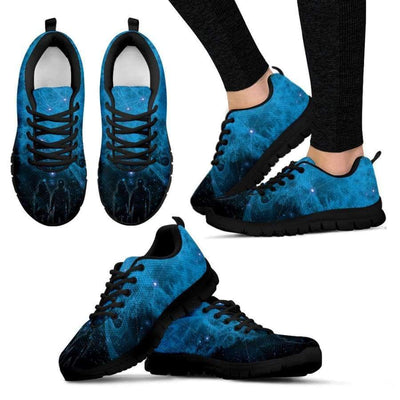 Galactic Nebula Women Sneakers Sneakers SHAPE meets COLOR Women's Sneakers - Black - Galactic Nebula Women Sneakers US5 (EU35)