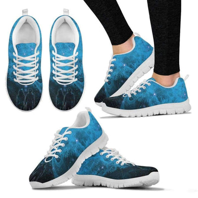 Galactic Nebula Women Sneakers Sneakers SHAPE meets COLOR Women's Sneakers - White - Galactic Nebula Women Sneakers. US5 (EU35)