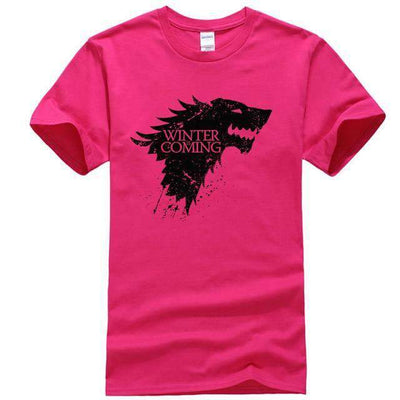 Game of Thrones Men T-Shirt SHAPE meets COLOR rose Red S