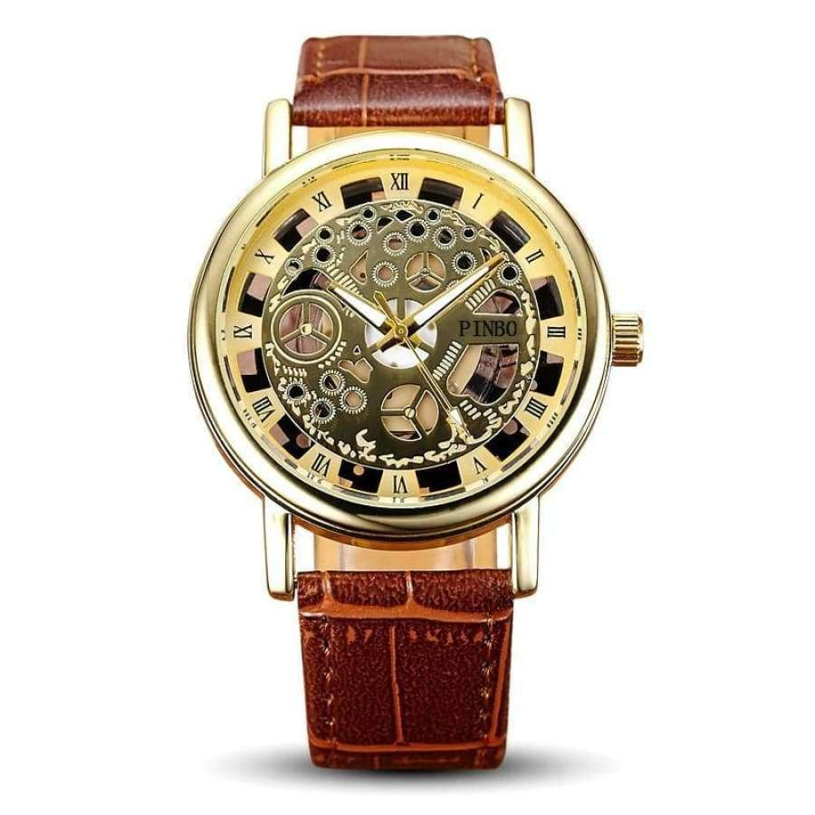Hollow Skeleton Men's Watch watch SHAPE meets COLOR