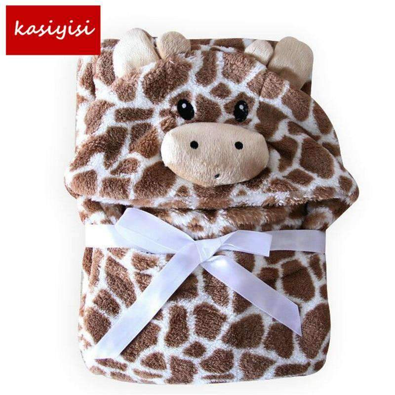 Hooded Animal Baby Blanket, Baby Bath Towel, Baby Bathrobe SHAPE meets COLOR