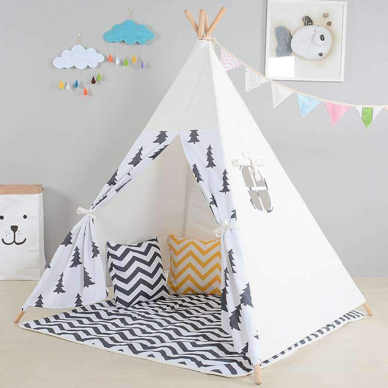 Indian Tipi Tent for Children - Indoors Playroom for Kids SHAPE meets COLOR