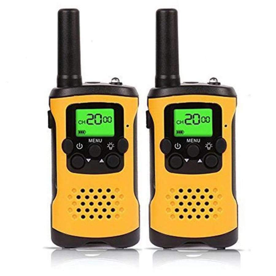 Kids Walkie Talkies -22-Channel FRS/GMRS Radio - 4-Mile Range Two Way Radios With Flashlight and LCD Screen SHAPE meets COLOR